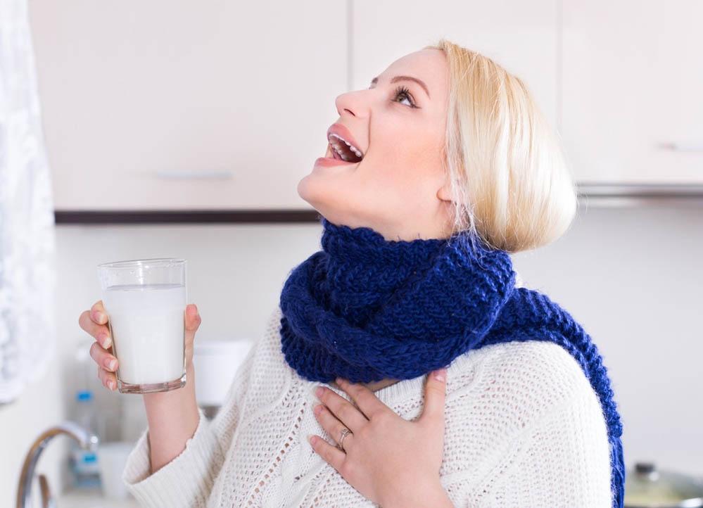 чем полоскать горло при простуде